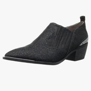 Sam Edelman Black Ankle Boot Leather Studded 8.5